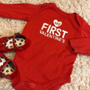 My first Valentine's onesie